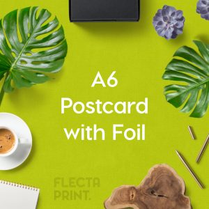 Foiled A6 Postcard (148x105mm)