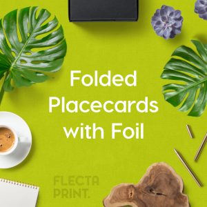 Wedding Placecards (folded to 90x55mm) Digital + Foil